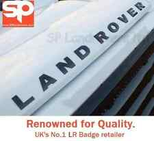 LAND ROVER Raised 3D Lettering Badge Decal Logo GLOSS BLACK Tdci Td5 DEFENDER