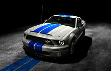 Framed Print - Ford Mustang Shelby GT500 American Muscle Car (Picture Poster Art
