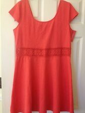 XHILARATION WOMEN'S DRESS SIZE XL PAPAYA COLOR POLYESTER/SPANDEX NEW WITH TAGS