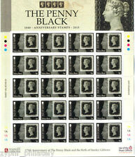 "Isle of Man IOM - ""175 YEARS OF THE PENNY BLACK"" MNH Stamp Sheetlet 2015 !"