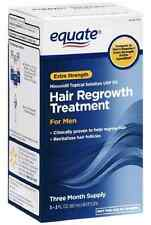 Men's Equate Hair Regrowth Treatment Minoxidil 5% Extra Strength, 3 Month supply