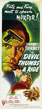 THE DEVIL THUMBS A RIDE Movie POSTER 14x36 Insert Lawrence Tierney Ted North Nan