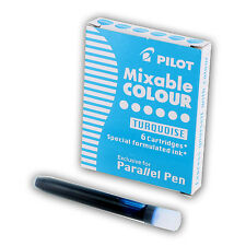 Pilot Parallel Mixable Colour Pen Ink Refills, Turquoise Ink, Box of 6 (77311)