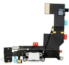 White Iphone 5S 5GS Headphone Audio Charger Charging Data USB Port Flex Cable