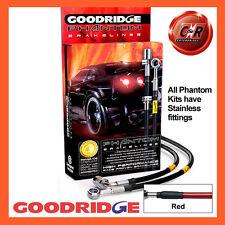 Toyota MR2 MK1 84-90 Goodridge Stainless Red Brake Hoses STY0004-4C-RD