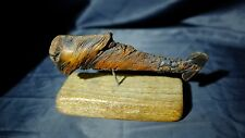 Driftwood Folk Art Whale Natural Formation Home Decor on Stand