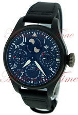 IWC Big Pilot's Perpetual Calendar TOP GUN Black Ceramic Watch 48mm IW502902