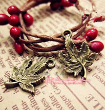 15pc Antique Bronze maple leaves Pendants Beads Charms Jewelry Accessories PJ212