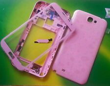 Full Housing Cover Case Chassis+Front Glass For SamSung Galaxy Note 2 II N7100
