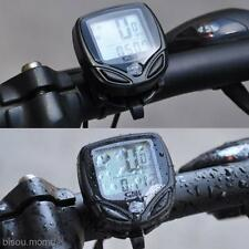 Outdoor Bike Bicycle Cycling Wireless LCD Cycle Computer Odometer Speedometer