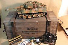 TORRO RC Panzer Tiger I mittlere Ausf. 2.4GHz Metallwanne Ketten BB 360° Turm