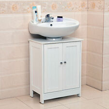 Undersink Bathroom Cabinet Cupboard Vanity Unit Under Sink Basin Storage Wood