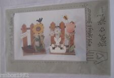 "Heart to Hand #39 Spring & Summer Picket Fence 18"" Wood Pattern ONLY"