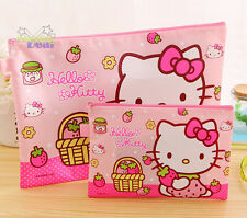 2pcs Cute Hello Kitty A5 + A4 Office Notes Check Files Bag Case Organizer Folder