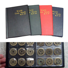 120 World Coin Cases Holder Collection Penny Album Book Pockets Storage Fashion
