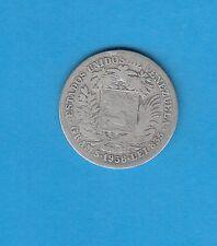 §   Vénézuela  Bolivar Libertador  Silver Coin 1 Bolivar  en argent 1936