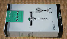 Golfer's Barware Set Corkscrew & Bottle Opener Golf Ball Motif Bar Accessory NIB