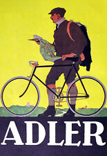 Art Deco - Adler Bicycle Cycle Bike Advert A3 Art Poster Print