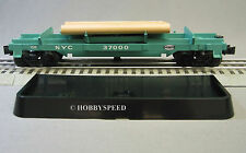 LIONEL NYC  LOG DUMP train flat car rolling stock operating dumping NEW 37000