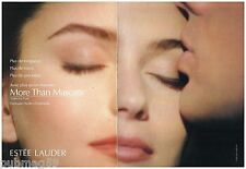 Publicité Advertising 1991 (2 pages) Cosmétique maquillage Estée lauder