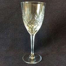 Verre H 15,3 cm cristal taillé de lorraine cristallerie de Lemberg cristal  XX e