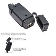 2.1A SAE to USB Adaptor Auto SUV Cell Phone GPS Quick Connect Plug Fast Charger