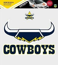 620163 NORTH QUEENSLAND COWBOYS MONSTER DECAL SECONDARY NRL CAR STICKERS ITAG
