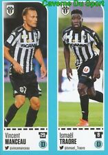 10-11 VINCENT MANCEAU - ISMAEL TRAORE SCO.ANGERS STICKER FOOT 2017 PANINI