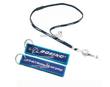 Boeing Airlines Lanyard & Easy Pull Buckle & Key Chain