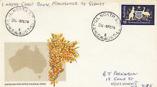 Postmark NSW TPO1 North Coast DOWN 1976 on Golden Wattle official generic cover