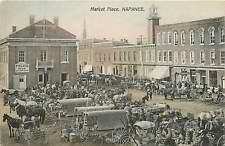 Canada, Ontario,  Napanee, Market Place 1910 Postcard