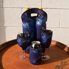Neoprene Cooler Set - Wine Champagne Can & Bottle Cooler | Blue Christmas Gifts