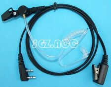 1 WIRE SURVEILLANCE EARPIECE FOR 2 PIN RADIOS BAOFENG KENWOOD POLICE SWAT SAFETY