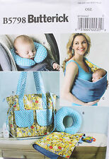 BABY ACCESSORIES-CHANGING PAD-CARRIER-BAG-NECK  Butterick Pattern 5798 NEW