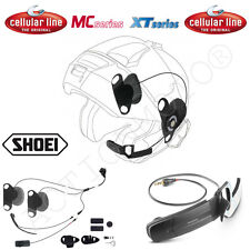 CELLULAR LINE AURICOLARI PRO SOUND SHOEI ideale per Neotec INTERPHONE F5 MC