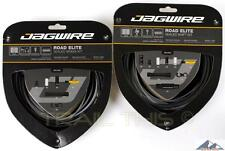 Jagwire Road Elite Complete Sealed Bike Shift / Brake Cable Kit - FROZEN BLACK