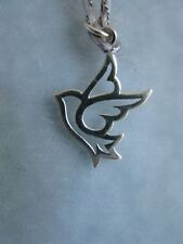 925 Sterling Silver Peace Dove Charm Christmas, Holiday, Love, Birds, New!
