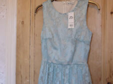 NEW With tags RRP £39.Miss Selfridge beautiful lace duck egg colour dress.10.