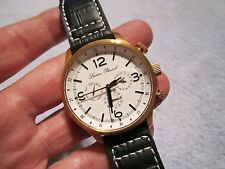 "LUCIEN PICCARD MEN'S 44mm ROSE GOLD ""AVALON"" MULTI-FUNCTION SWISS QUARTZ WATCH"