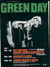 GREEN DAY 2002 tOUR UK FLYER / mini Poster 8x6""