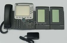 Cisco cp-7970g IP PHONE-TELEFONO + 7914 Moduli di espansione-IVA Incl. & Warranty