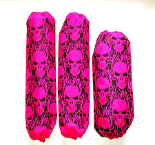 Shock Covers Kawasaki KFX 450R Pink Skulls 450 R ATV Set of 3
