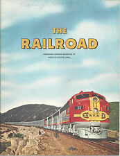 Santa Fe System Railroad Book 1958 History How Railroads Began