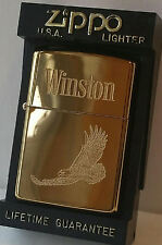 Zippo Lighter Winston Tobacco Polished Brass RARE RJR CAMEL NEW 1996 IN BOX MNT