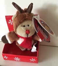 Starbucks Bearista Rudolph the Red-Nosed Reindeer Magnet 2003 28th Edition