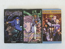 SILENT MOBIUS   LOT OF 3 ANIME VHS VIDEOS  Dubbed  Bandai Entertainment
