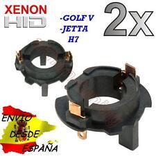2X BASE ADAPTADOR H7 VW GOLF 5 JETTA V HID MK5 KIT XENON VOLKSWAGEN DESDE ESPAÑA