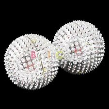 Pair Magnetic Hand Palm Acupuncture Ball Needle Massage SACA