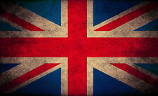 """UK Flag Union Jack Britain CANVAS ART PRINT 24""""X16"""" Grunge Abstract poster"""