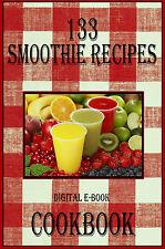 133 Delicious Smoothie Recipes E-Book Cookbook CD-ROM